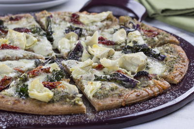 Artichoke Pesto Pizza