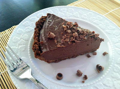 Chocolate Amaretto Silk Pie