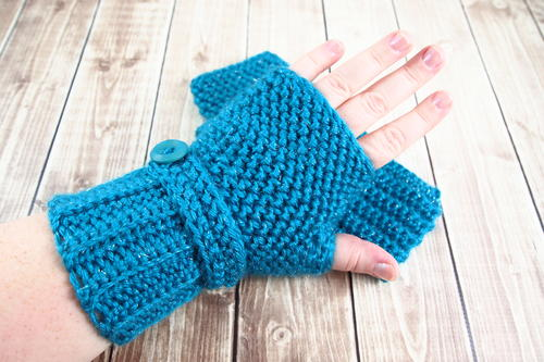 Herringbone Crochet Fingerless Gloves Allfreecrochet