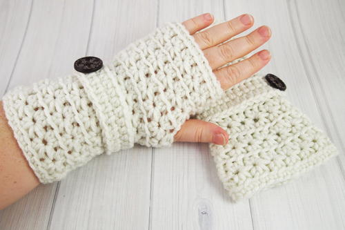 Crochet Star Stitch Fingerless Gloves Allfreecrochet