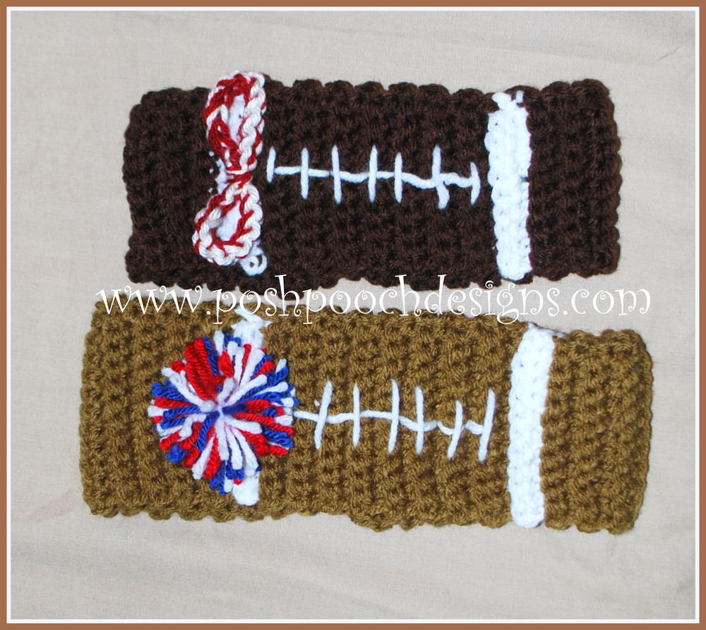 24 crochet ear warmers allfreecrochet football headband ear warmer bankloansurffo Choice Image