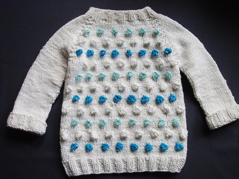 Seamless Bobble Stitch Baby Sweater AllFreeKnitting Delectable Free Knitting Patterns For Baby Sweaters