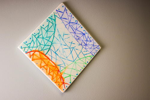Sharpie Inspired Watercolor Wall Art