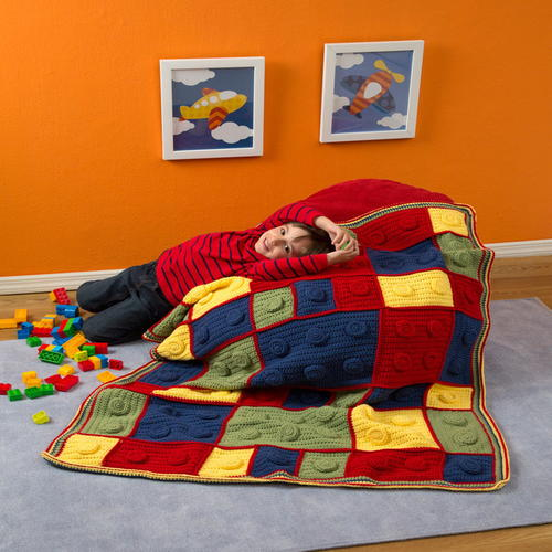 Building Blocks Crochet Throw