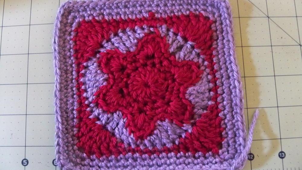 Star Of David Crochet Granny Square Allfreecrochetafghanpatterns