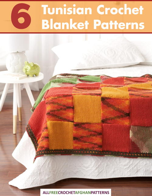 6 Tunisian Crochet Blanket Patterns Free Ebook