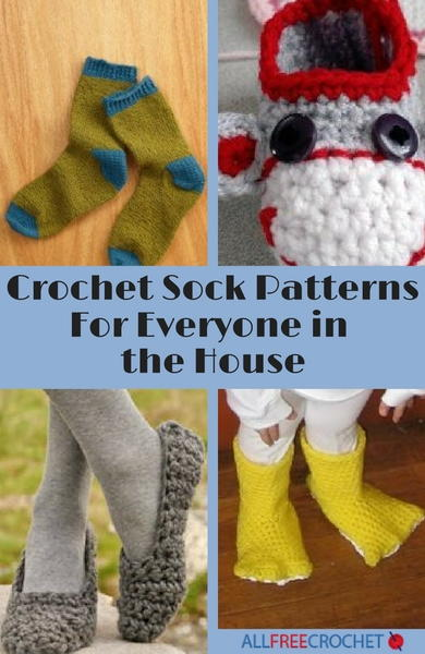 32 Crochet Sock Patterns | AllFreeCrochet.com on men's plush house slippers, men's scuff slippers, men's house coats, men's house robes, men's crochet slippers, 100% wool ragg socks, men's moccasins size 11 5, men's moccasin house slippers, men's house dress, men's leather house slippers, men's polo house slippers, men's shoe slippers,