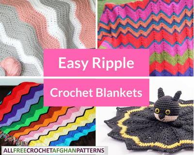 20 Easy Ripple Crochet Blankets Allfreecrochetafghanpatterns