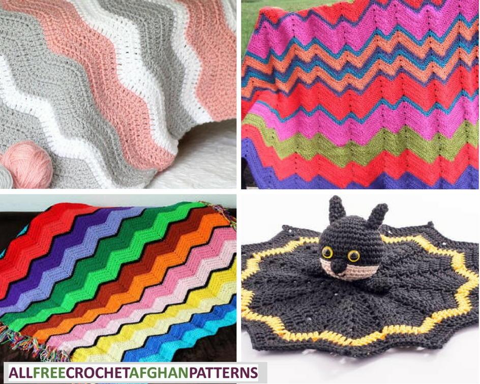 20 Easy Ripple Crochet Blankets | AllFreeCrochetAfghanPatterns.com