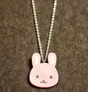 Adorable Pink Bunny Jewelry Charm