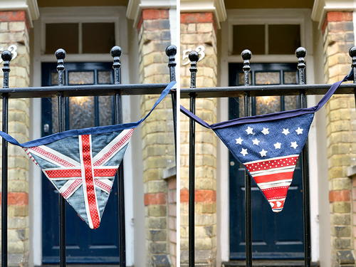 Upcycled Flag Denim Bunting