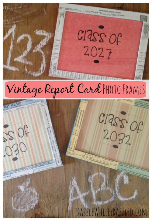 Make Easy Picture Frames from Old School Papers | FaveCrafts.com