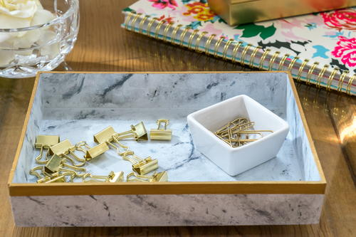 Faux Marble Tray-an Easy DIY to Make