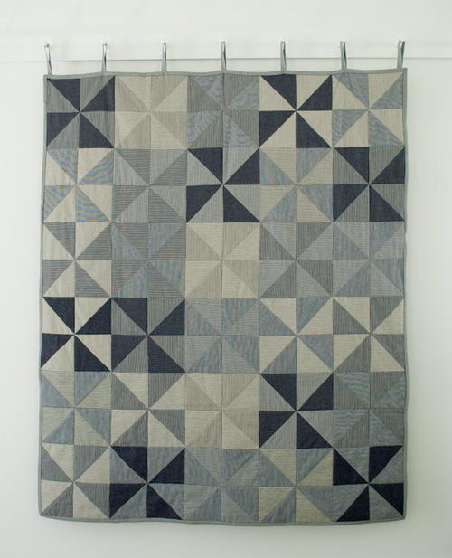 Railroad Denim Pinwheel Quilt
