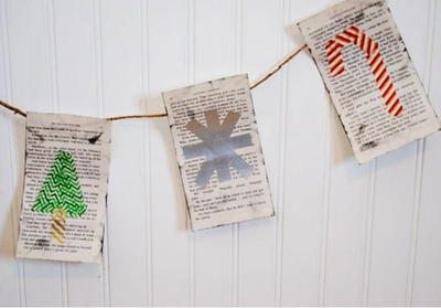 Jolly Book Page DIY Banner