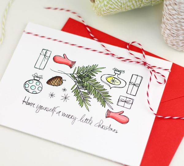 Stamp Set DIY Christmas Card