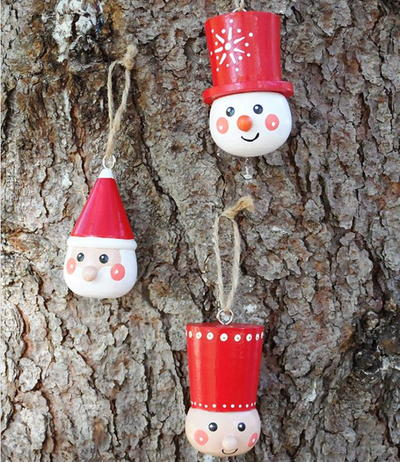 Scandinavian-Style Wooden Ornaments
