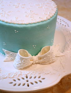 Tiffany Blue Lace Wedding Cake Designs