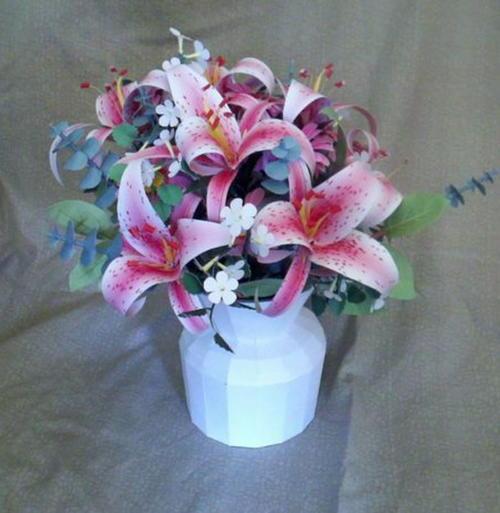 Printable stargazer lily paper flower bouquet allfreepapercrafts printable stargazer lily paper flower bouquet mightylinksfo