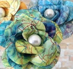 Recycled atlas paper flowers allfreepapercrafts recycled atlas paper flowers mightylinksfo