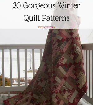 20 Gorgeous Winter Quilt Patterns