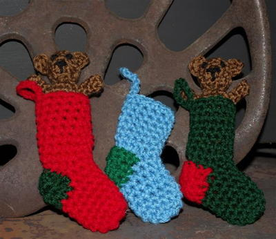 Mini Diy Crochet Christmas Stocking Allfreechristmascrafts