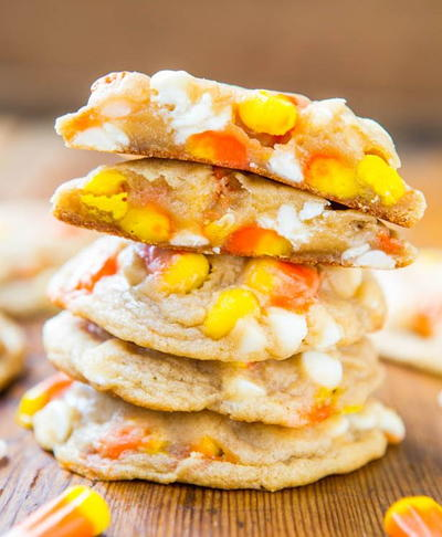 Soft Candy Corn Cookies