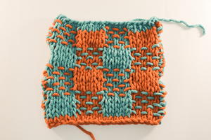 How to Knit a Woven Plaid Stitch