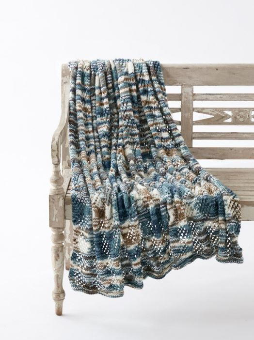 Seascape Lace Knit Blanket Pattern