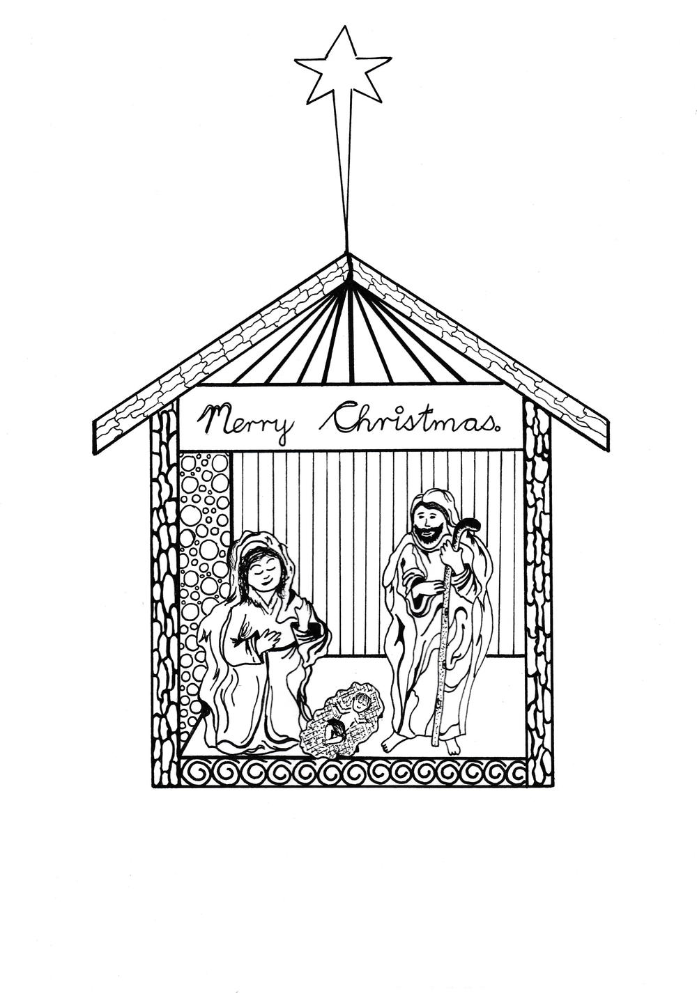 Free Printable Nativity Scene Coloring Pages