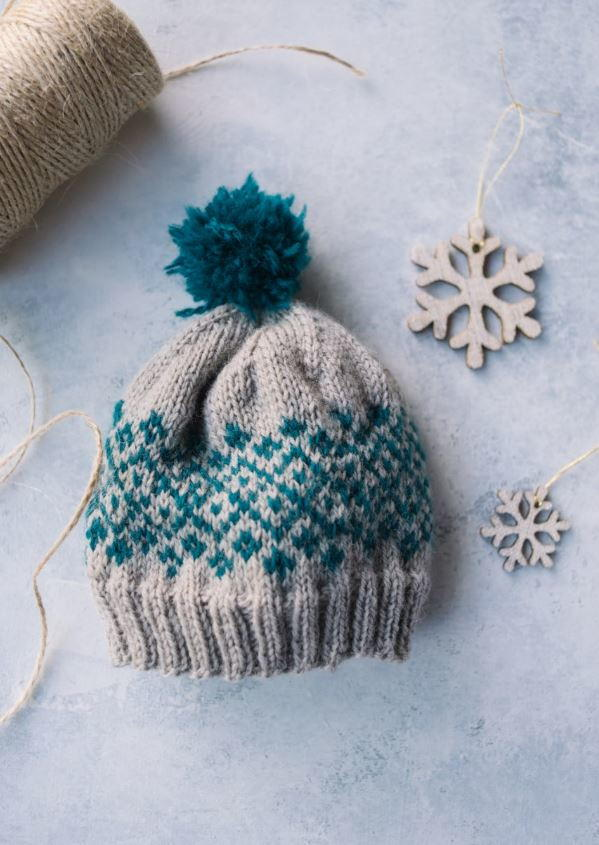 Shetland Baby Knit Hat | AllFreeKnitting.com