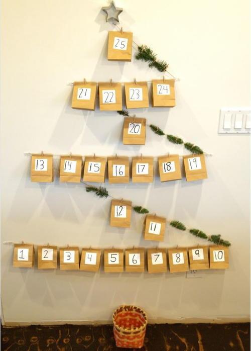 Paper Bag Christmas Tree DIY Advent Calendar ...