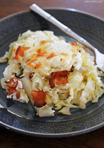 Cabbage Casserole with Bacon and Sour Cream