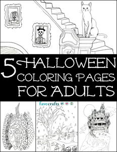 Haunted House Coloring Page | FaveCrafts.com
