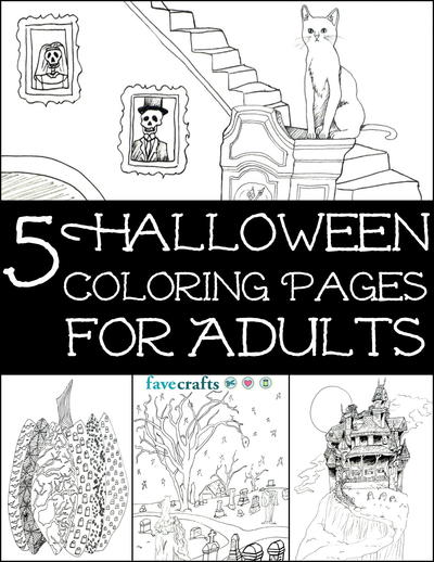 Opt For Some Creepy Coloring This October When You Download The 5 Halloween Pages Adults Free EBook Are A Fantastic