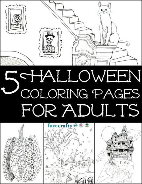 5 halloween coloring pages for adults free ebook - Halloween Free Coloring Pages