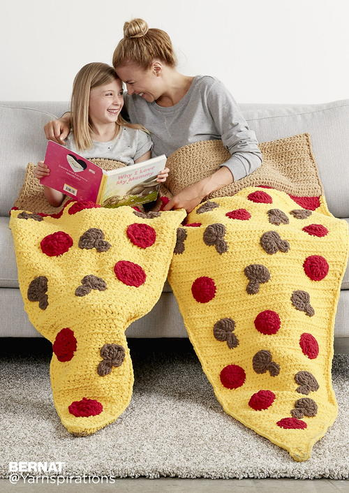 Pizza Party Crochet Snuggle Sack