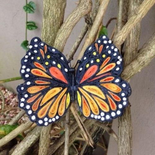 Beautiful Quilled Monarch Butterfly
