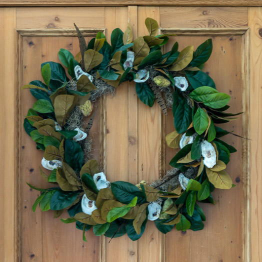 Magnolia and Oyster Shell Fall Wreath