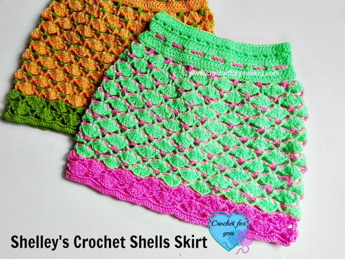 Crochet Shells Skirt Allfreecrochet