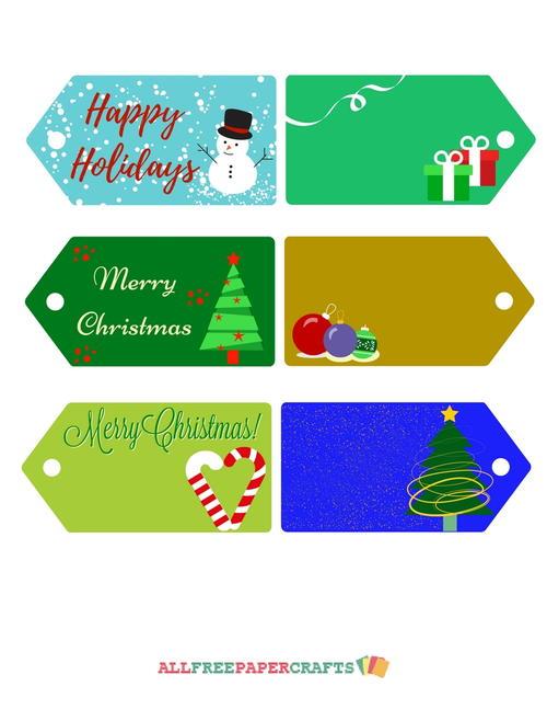 Allfreepapercrafts Com: Joyful Printable Christmas Tags
