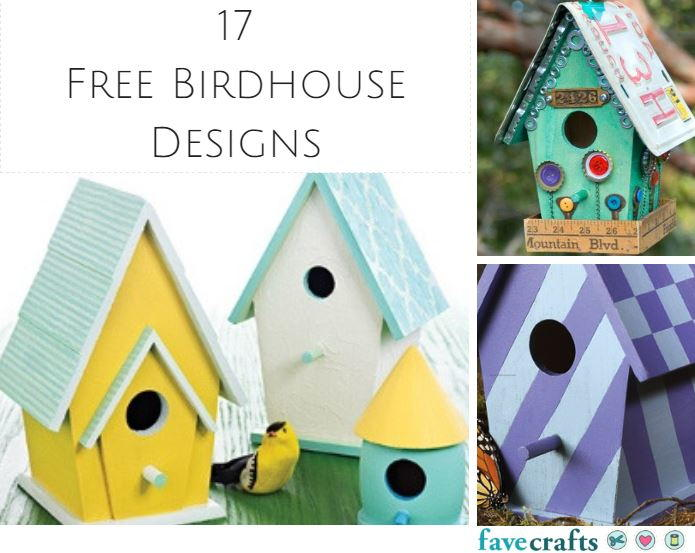 17 free birdhouse designs for Easy birdhouse ideas