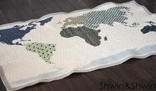 World Map Quilt Pattern | FaveQuilts.com