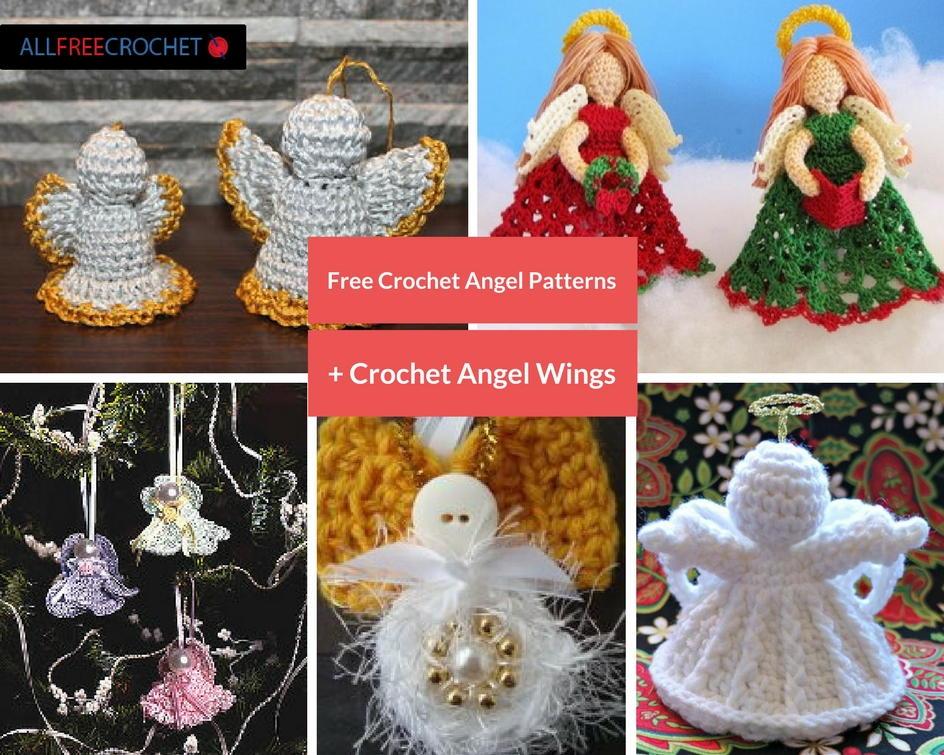 30 Free Crochet Angel Patterns + Crochet Angel Wings ...