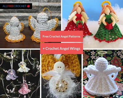 40 Free Crochet Angel Patterns Crochet Angel Wings Magnificent Angel Pattern