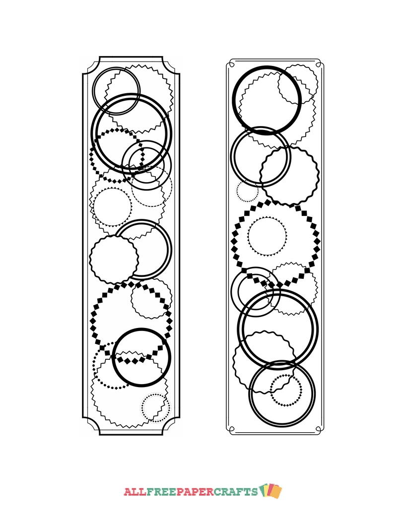 Continuous Circles Coloring Page Bookmarks
