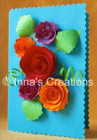 How to make spiral paper flowers for cards allfreepapercrafts how to make spiral paper flowers for cards mightylinksfo