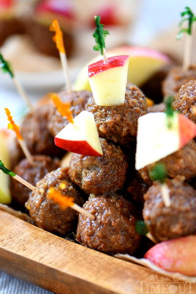 Slow Cooker Apple Cider Maple Meatballs