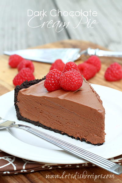 Danelles Dark Chocolate Cream Pie