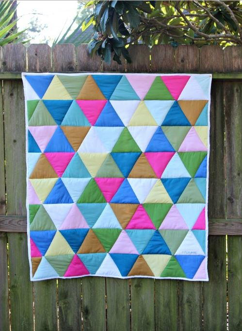 One Day Triangle Quilt Tutorial Favequilts